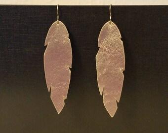 Lightweight sheep leather earrings