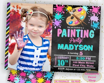 Painting Party Invitation, Art Party Invitation, Art Birthday Party Invitation, Art Themed Party, Paint Party Invites Painting Party Paint11