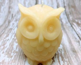 Owl Candle, Owl Bees Wax Candles, Owl Votive Candles, Farmhouse Votives, Log Cabin Decor, Rustic Decor, Country Decor, Wedding Favors