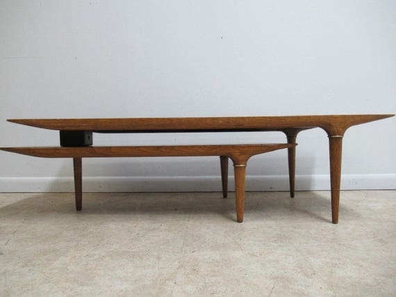 Vintage Mid Century Inlaid Tile Boomerang Coffee Table