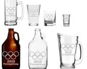 Olympic Glassware - Mug - Pint Glass - Beer Growler - Pitcher - shot