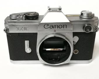 Canon FX with New Light Seals. Ready-To-Use Vintage 1960s SLR Camera Body