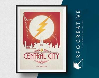 The Flash Origin Print : Central City - DC Comics