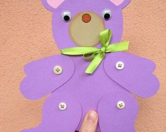 Little bear custom gift card holder