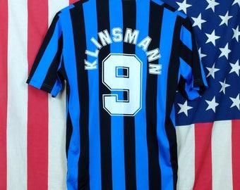 1980's FC Internazionale Football Fan Jersey // Jürgen Klinsmann #9 //  Inter Milan