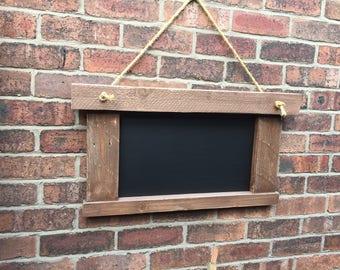 Hanging chalkboard rustic chalkboard vintage menu hanging menu chalkboard