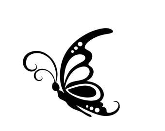 Butterfly, side view sticker, nature, beautiful, spring, cute window decal