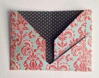 4 pocket folder for midori or fauxdori traveler's notebook, choose your size