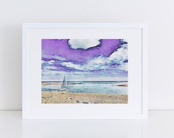 Suffolk Scene - Felixstowe Ferry, Old Felixstowe - Print of original artwork - art print