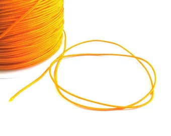 5 m wire braided orange nylon 1 mm