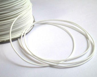 5 m thread cord waxed white polyester 1 mm