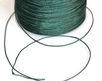 5 m cord 0.5 mm dark green polyester thread