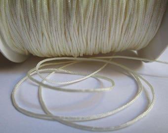 10 meters wire 0.8 mm ecru nylon