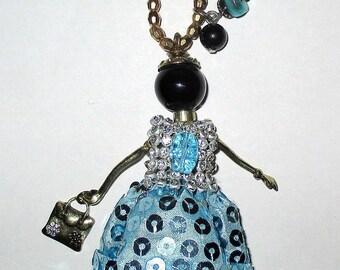 Necklace pendant necklace ღ ღ doll / unique Piece!