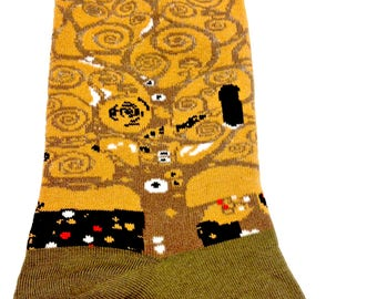 Art Socks Set,Van Gogh, Ernst, Klimt, Millet, Gift for Women,Crew Socks,Artist Set of 4, Birthday Gift