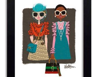 GUCCI - Fashion Illustration Print Fashion Print Fashion Art Fashion Wall Art Fashion Poster Fashion Sketch Art Print