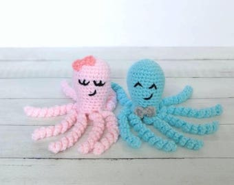 Crochet Octopus, Preemie Octopus, Newborn Octopus, Stuffed Octopus, NICU Octopus, Baby Toy, Baby Shower Gift, Octopus Baby Toy, Crochet Toy