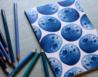 Blueberry A5 Sketchbook/Notebook