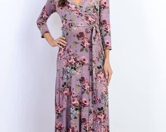Hello Miz Floral Maxi Side Tie Maternity Dress
