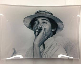 "Small ""Obama"" weed glass tray!"