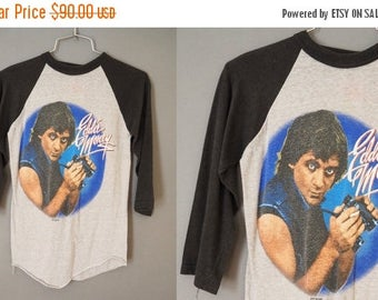 25% OFF SALE 1983-84 Eddie Money Where's The Party Tour Concert Rock Baseball 3/4 Sleeve Tee T-Shirt