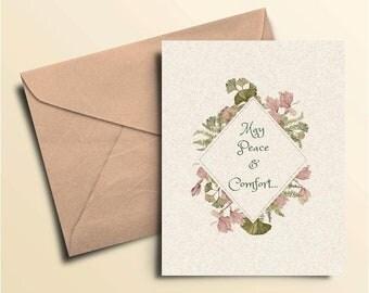 May Peace & Comfort Sympathy Card