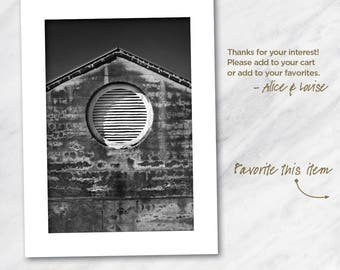 13x19 Black and white fine art photography print. Fort Zachary Taylor Historical Building, Florida