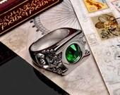 Green Lantern Ring - Stainless Steel Handmade Ring