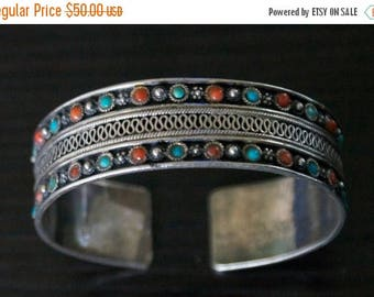 ON SALE Classic Turquoise, coral, Silver KADA