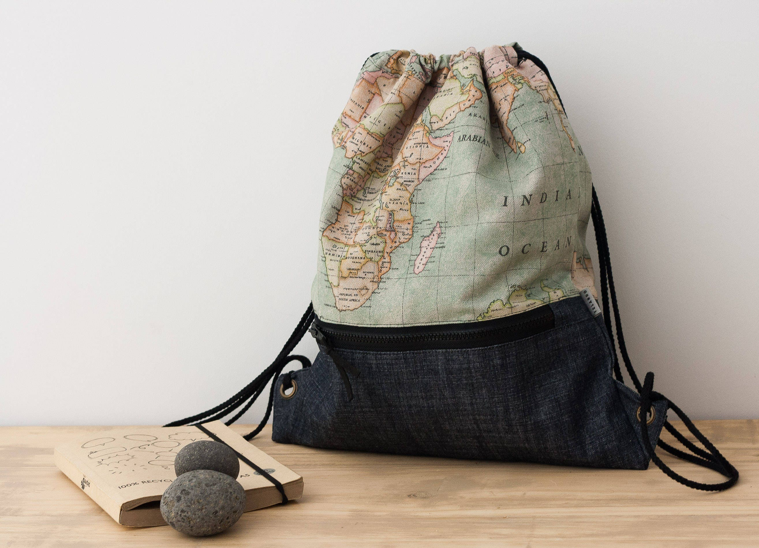 World map backpack drawstring backpack simple backpack small world map backpack drawstring backpack simple backpack small backpack fabric backpack gumiabroncs Image collections