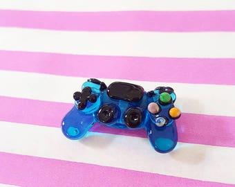 Gamer Beads - Lampwork Glass - Glass Controller - Lampwork Beads - UK Artisan Handmade - Gamer - Playstation - Xbox - Controller Bead - UK