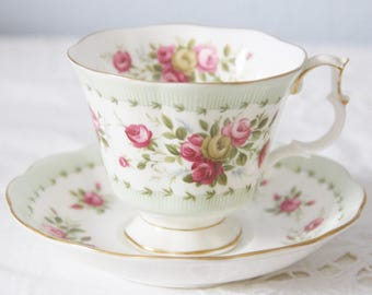 Beautiful Vintage Royal Albert Gainsborough Cup and Saucer,  Gaiety Series 'Waltz', England