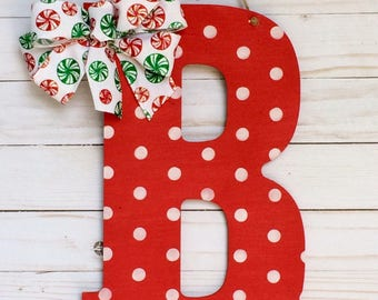 Christmas Door Hanger - Christmas Door Hanger - Door Decor - Christmas Decor - Wall Letters - Persinalized Gifts