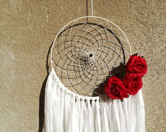 Boho bohemian white Dreamcatcher dream white wall