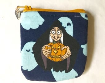New!  Rounded coin purse with tv show character made from cartoon fabric