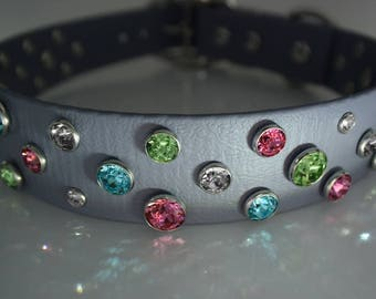 50% Discount, Large Bling Dog Collar, Photo Sample, Swarovski Crystal Dog Collar, Big Dog Bling, Comfy Durable Secure and Waterproof