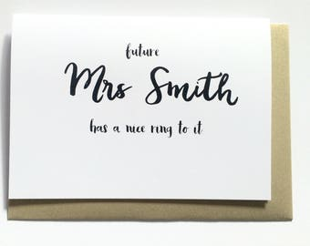 Congratulations - Personalised Engagement Card