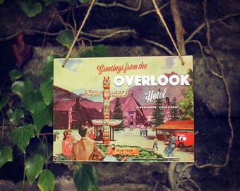 The Shining Overlook Hotel souvenir sign