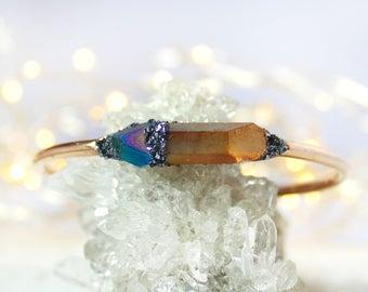 Gold Boho Citrine Jewelry, Citrine Bracelet, Raw Citrine, Natural Citrine Bracelet, Citrine Jewelry, Tanzine Aura, Raw Crystal Bracelet