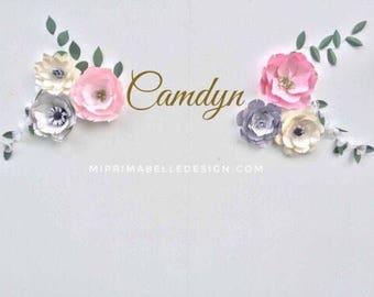 Paper flowers wall decor | baby girl nursery room wall decor | flower wall | nursery room decor | girl first birthday photo shoot / party
