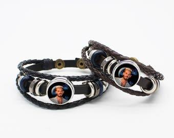 Bracelet black leather or brown pokora