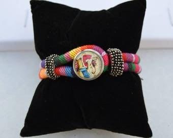 speckled pink chunk bracelet