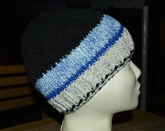Blue marl Hat