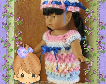 Dress, bonnet, for doll 20 cms Mini Corolline