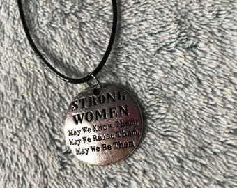 Strong Women Quote Necklace