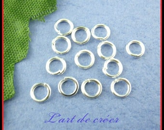1200 Silver 5mm open jump rings