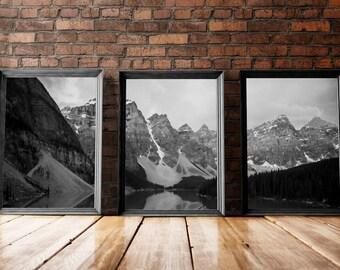 Foggy Mountains | Mountain Artwork, Foggy Art, Evergreen Mountains, Evergreen Art, Evergreen, Evergreen Forest, Grayscale Art Prints