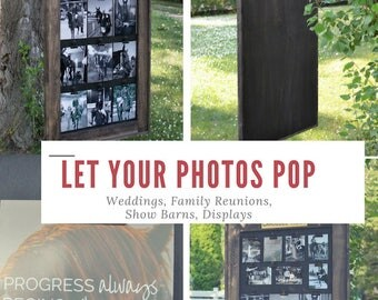Photo Board - Memory Board - Display Photos - Weddings - Family Reunions - Equestrian -  Family - Photo Sign - Photo Display, Display Board