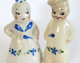 Vintage S&P Shakers CHEF Cook Man Woman Shawnee