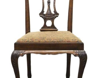 High End Solid Mahogany Chippendale Dining Side Chair Ball U0026 Claw Foot